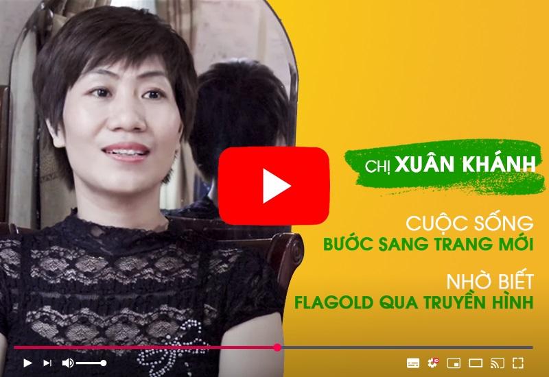 Chị Xuân Khánh chia sẻ cảm nhận sau 1 năm sử dụng mầm đậu nành Flagold