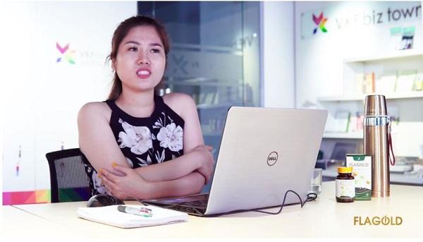 Chị Bích, 35t, làm nhân viên kinh doanh