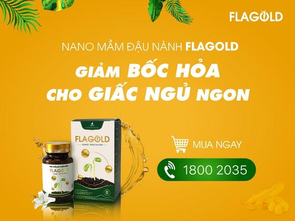 Nano mầm đậu nành FlaGold hỗ trợ cải thiện tình trạng bốc hỏa, cải thiện giấc ngủ cho phụ nữ