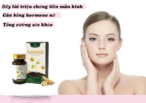 Nano mầm đậu nành Flagold hỗ trợ cải thiện suy giảm nội tiết tố, suy giảm ham muốn ở nữ giới