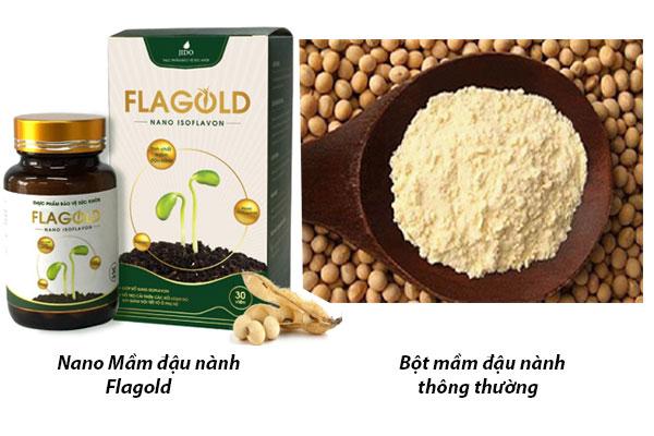 Nano mầm đậu nành FlaGold khác gì bột đậu nành thông thường
