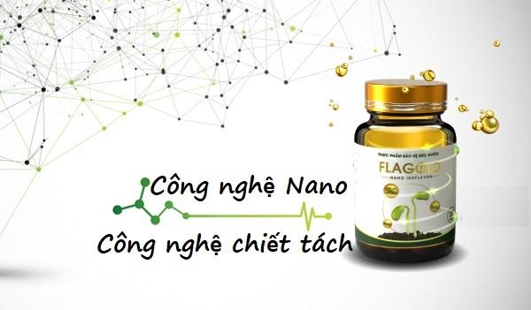 Nano mầm đậu nành FlaGold ứng dụng công nghệ Nano bào chế Nano Isoflavon