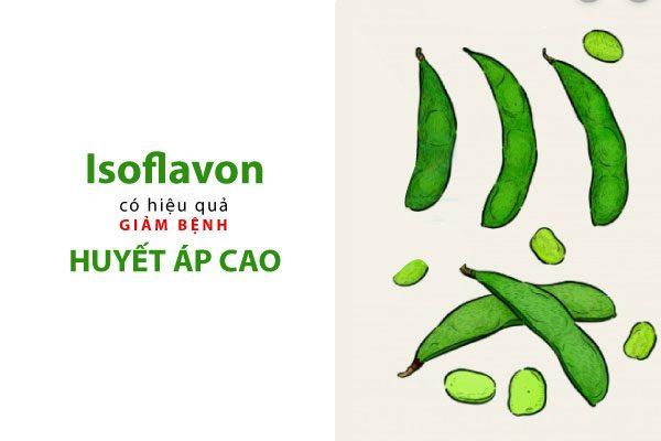 isoflavon làm giảm huyết áp