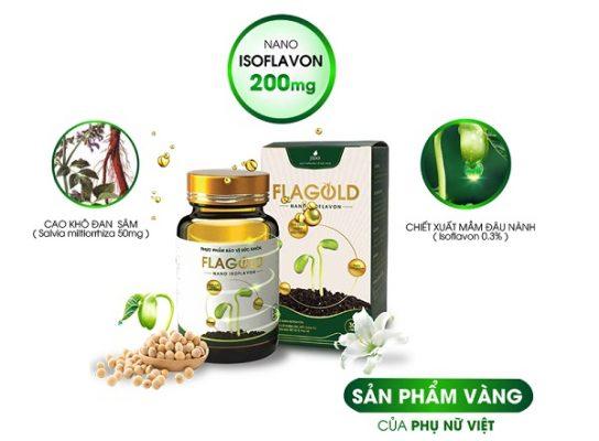 Thành phần có trong sản phẩm Nano mầm đậu nành FlaGold